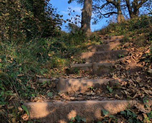 Steps to blue sky